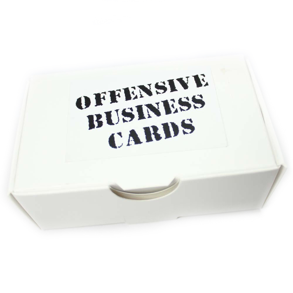 Buy Offensive Business Cards. Weird and funny stuff online ...