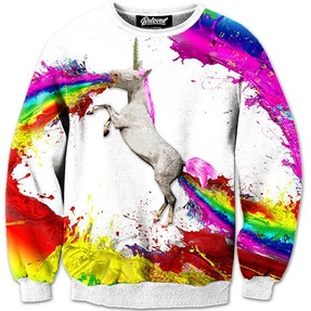 UNICORN SPEW SWEATSHIRT