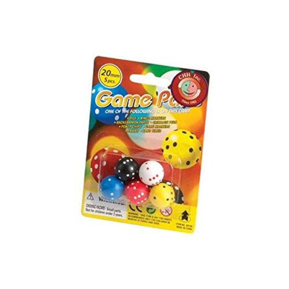 Round Dice in Blister Pack