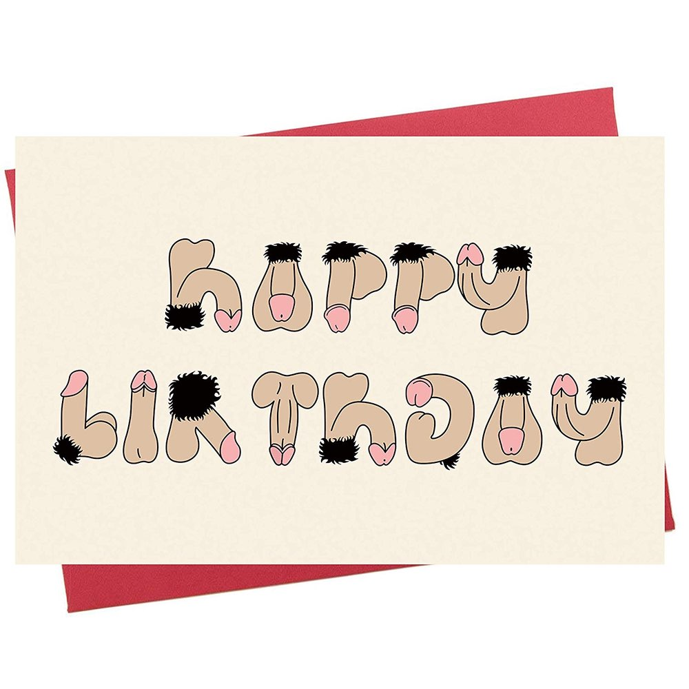 Buy Rude Birthday Card Weird And Funny Stuff Online